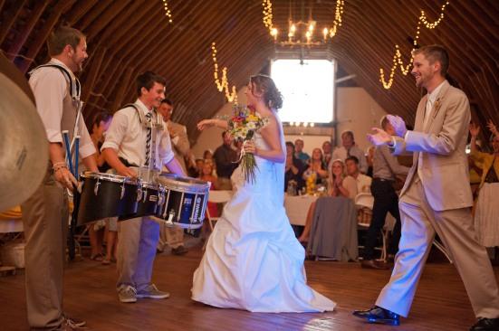 drumline entrance barn wedding (1238)