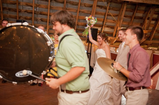 Drumline entrance country wedding (1223)