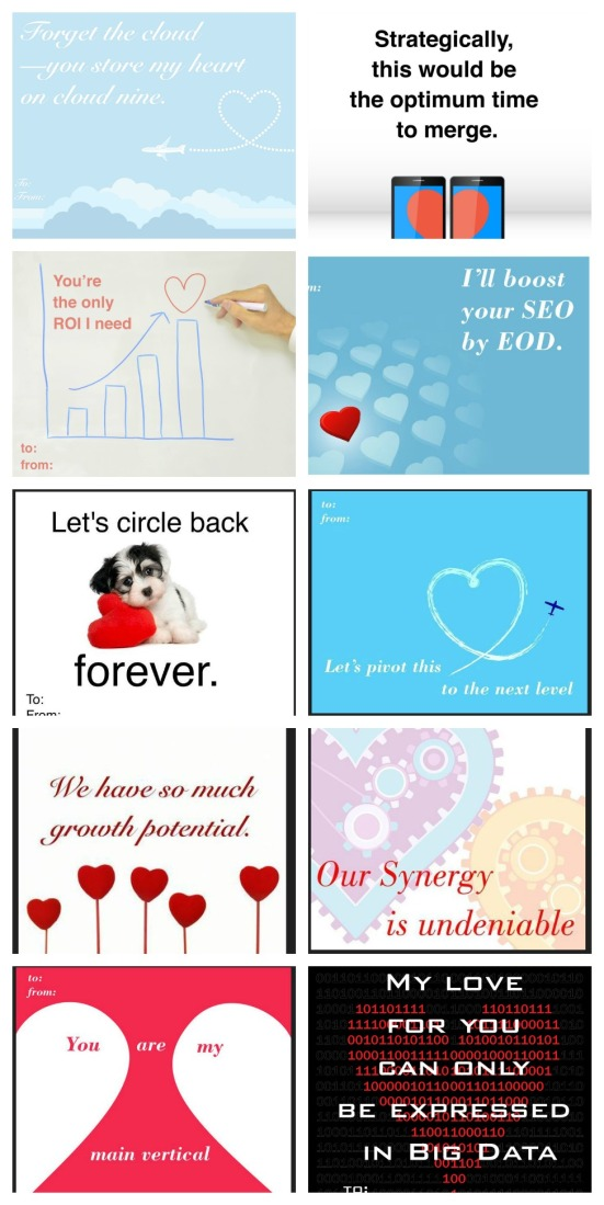 Marketing Buzzwords Valentine