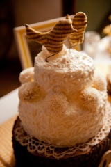 Our Perfectly Rustic, Music Bird Wedding Cake