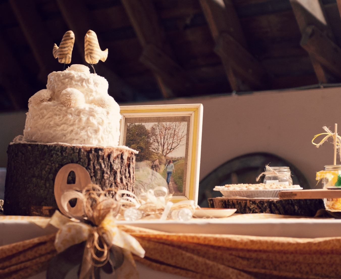 Our Perfectly Rustic Music Bird Wedding Cake