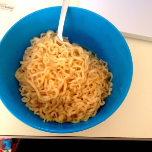 actual photo of my lunch today.